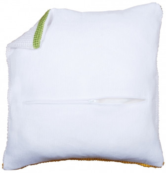 PNV174415 Vervaco Cushion Back With Zipper - White