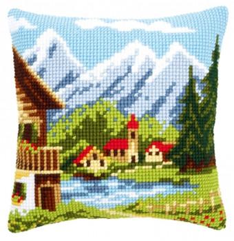 PNV9079 Vervaco Alpine Village Pillow