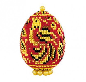 RLB184 Riolis Cross Stitch Kit Khokhloma - Easter Egg;