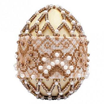 RLB214 Riolis Cross Stitch Kit Cappuccino - Easter Egg