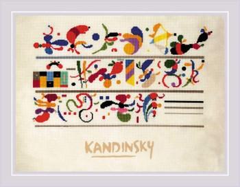 RLPT0080 Riolis Cross Stitch Kit Succession after W. Kandinsky's Composition