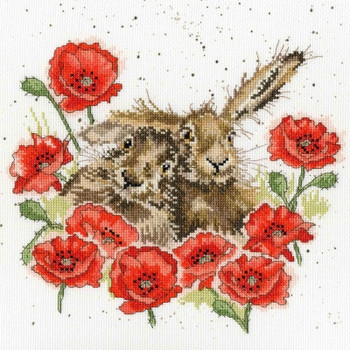 BTXHD61 Love is in the Hare  Hannah Dale Collection Bothy Threads Counted Cross Stitch KIT
