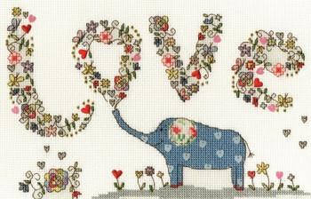 BTXKA5 Love Elly - Kim Anderson - Love Bothy Threads Counted Cross Stitch KIT