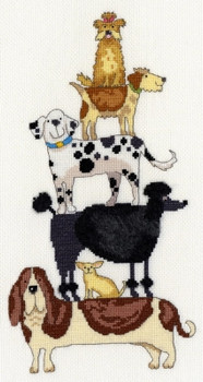 BTXKM2 Dog Stack - Kate Mawdesley - Stacks! Bothy Threads Counted Cross Stitch KIT