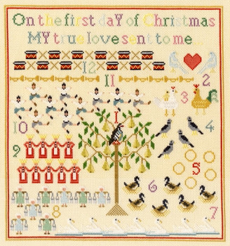BTXX18 On The First Day -  ChristmasBothy Threads Counted Cross Stitch KIT