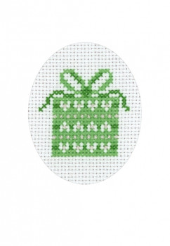 177204 Gift - Card Permin Counted Cross Stitch Kit