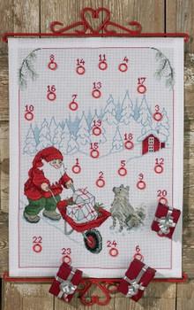 349654 Permin Kit Santa Claus w/Gifts - Advent
