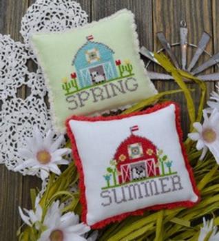 Bitty Barns - Spring & Summer by Annie Beez Folk Art 21-1588 YT
