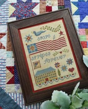 Stars And Strips Forever 89w x 125h Annie Beez Folk Art 21-1586  YT