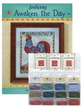 """Awaken The Day Approximate Design size 8"""" w x 10"""" h With Embellishment Pack Does NOT include fabric Jim Shore"""