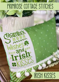 Irish Kisses 41w x 64h by Primrose Cottage Stitches 21-1267