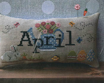 When I Think Of April (w/button) 105w x 48h by Puntini Puntini 21-1639