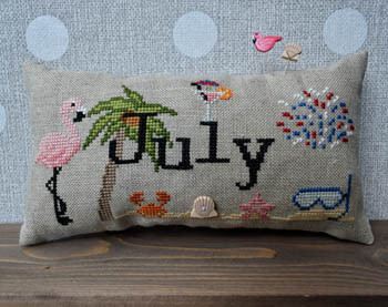 When I Think Of July (w/button) 105w x 48h by Puntini Puntini 21-1782