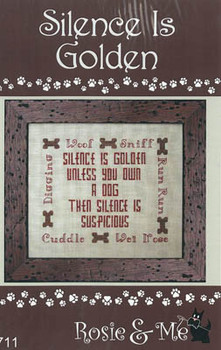 Silence Is Golden 96w x 80h by Rosie & Me Creationsb21-1446