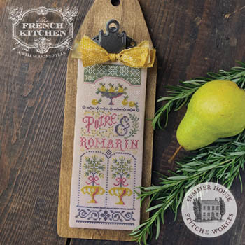 Poire Et Romarin (Pear & Rosemary) 53w x 135h by Summer House Stitche Workes 21-1606