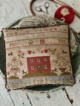 Rose Cottage Sampler Pinkeep by Stacy Nash Primitives 21-1401