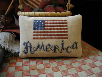 America 75w x 46h by Threadwork Primitives 13-1681