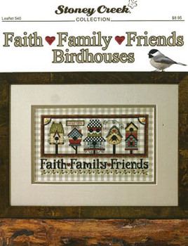 Faith Family Friends Birdhouses 144w x 81h by Stoney Creek Collection 21-1767