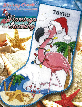 Flamingo Stocking 147w x 231h by Stoney Creek Collection 20-2115