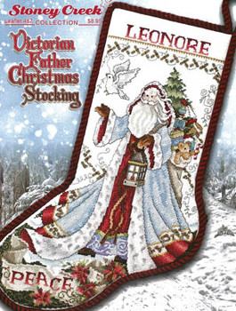 Victorian Father Christmas Stocking 152w x 235h by Stoney Creek Collection 20-2154