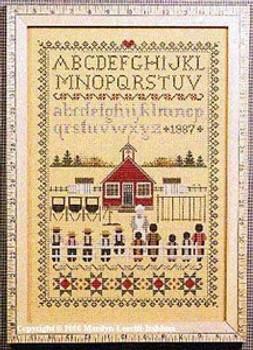 Schoolhouse Sampler Told In A Garden 3936