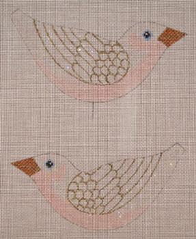 LL300G  Labors Of Love Snow Bird Clip on 18 Mesh 5.75x3 each (2)