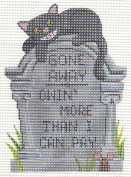 """LL500 Labors Of Love Tombstone """" Gone Away """" 18 Mesh 4.25x5.75"""