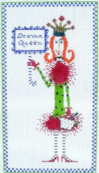 b68aaf6106cf2a JH-01 Drama Queen With stitch guide 5 ½ x 10 18 Mesh JOEY HEIBURG-DOLLY MAMA
