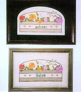 02-1701 Floral Shalom/Welcome Stitchers Heaven
