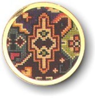 "7746001 Eva Rosenstand Kit Handbag Mirror 2"" circle; Aida; 7ct"