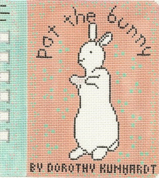 """337 """"Pat the Bunny"""" 5 x 5.5 18 Count Silver Needle Designs"""
