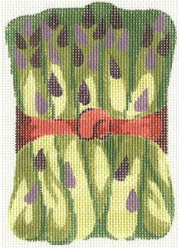 389 Asparagus Ornament 4.5 x 5 18 Count Silver Needle Designs