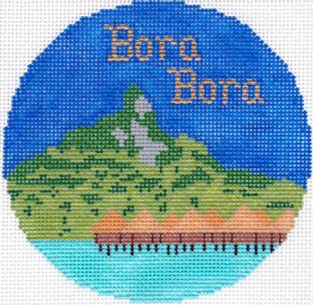 697 Bora Bora Ornament 4.25 RD. 18 Mesh Silver Needle Designs