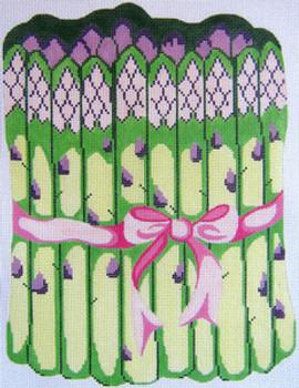119 Asparagus 13 x 9 13 Count Silver Needle Designs