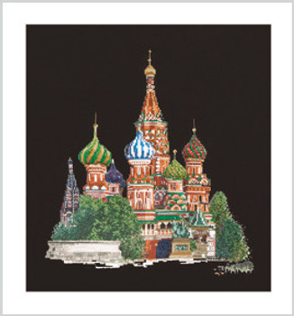 """Basil/'s Cathedral On Ai Thea Gouverneur Counted Cross Stitch Kit 13.5/""""X14.5/""""-St"""