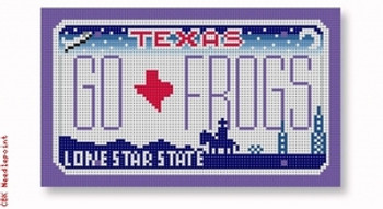 "SA-ML 31 GO FROGS - Texas 18 Mesh 5.5 x 3.25"" Starke Art Designs"