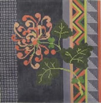 316  NeedleDeeva 11x11 13 Mesh Asian Flower