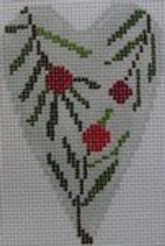1343I NeedleDeeva 3.5 x 2.67 18 Mesh Pine Boughs Heart