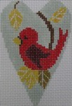 1343H NeedleDeeva 3.5 x 2.67 18 Mesh Cardinal Heart