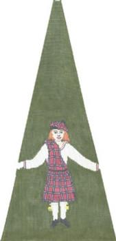 KS409N Scottish Girl 11X23 13 Mesh Cooper Oaks Designs