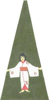 KS409F Japanese Girl 11X23 13 Mesh Cooper Oaks Designs