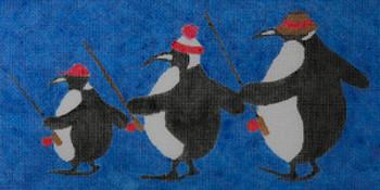 WWCO1310 Fishing Penguins 18 mesh 11 x 6 Waterweave