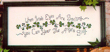 05-2902 A. Fox Original Counted Cross Stitch Pattern When Irish Eyes Are Smiling