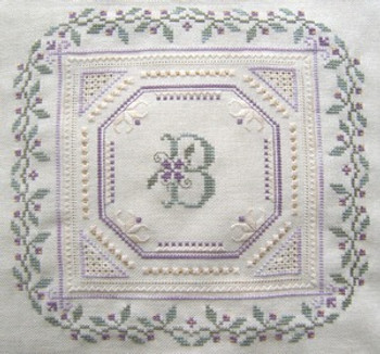 Sweet Violets With Silk Pack Heirloom Embroideries HE-SV