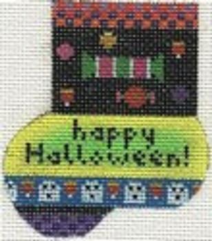 ab182a A. Bradley happy Halloween munchkinsock 2 x 3  18 Mesh