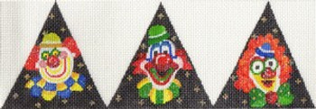 ab248 A. Bradley 3D triangle clowns 9 x 3 18 Mesh