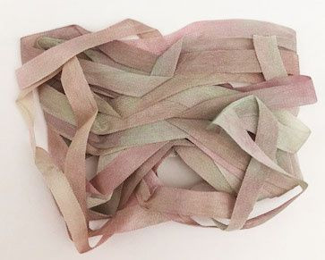 Brown Grey 11 YLI 7mm Hand Dyed Varigated Silk Ribbon 3m