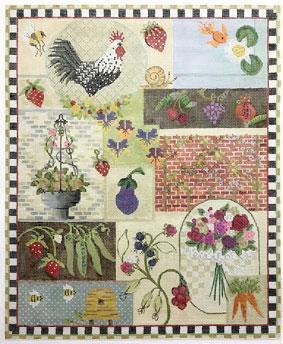 "Flowers /& Goldfish 4/"" Squares 36 pcs 100/% Cotton Craft//Quilting PGD"