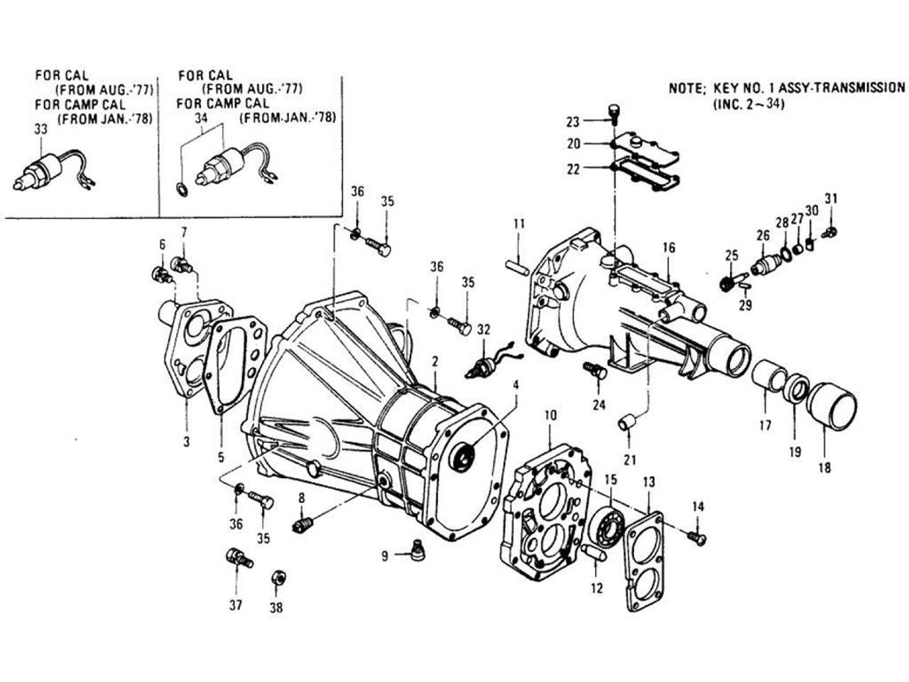 manual / standard transmission - nissan infiniti & datsun - f4w70b f4w71b - transmission  parts distributors