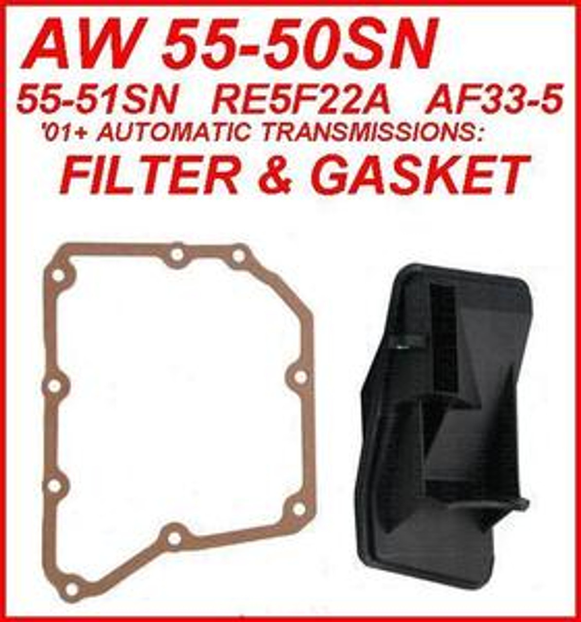 AW 55-50SN 55-51SN RE5F22A TRANSMISSION FILTER & VALVE BODY COVER GASKET  FITS NISSAN